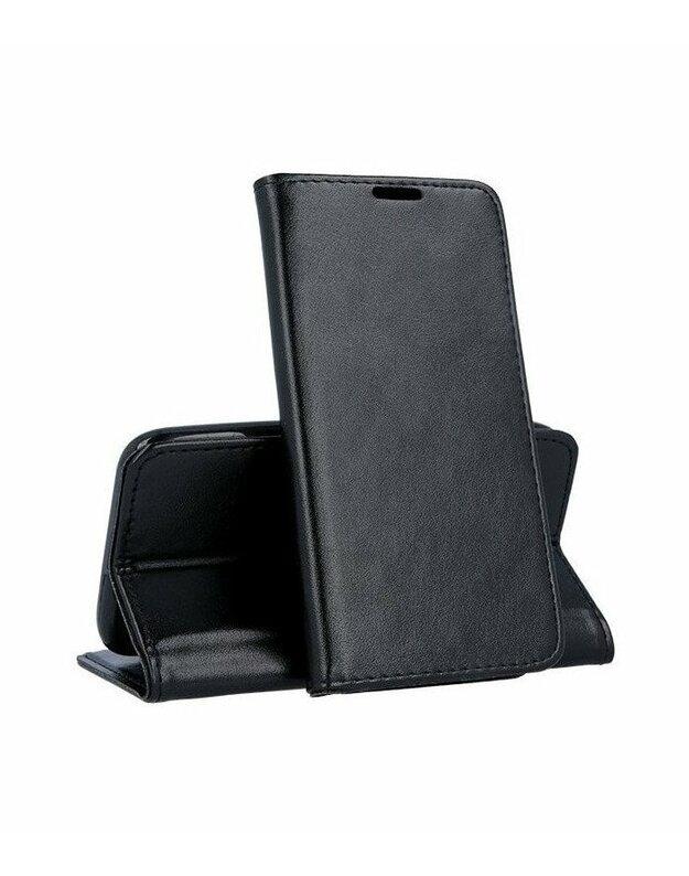 """Juodas atverčiamas dėklas Samsung Galaxy A20e telefonui """"Smart Magnetic"""""""