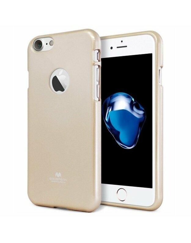 """""""Mercury Jelly"""" dėklas """"iPhone 7 Plus"""" / """"8 Plus"""" auksinis / supjaustytas auksas / skylė"""