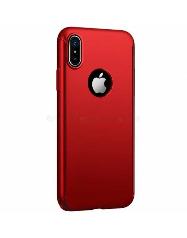 Iphone X raudona nugarele blizgi