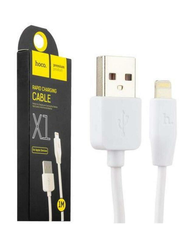 Hoco X1. Kabelio ilgis: 1 m, Jungtis 1: Lightning, Jungtis 2: USB A. Išvesties srovė (maks.): 2,1 A