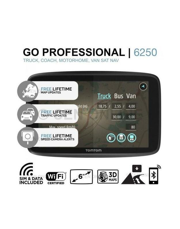 GPS navigacija sunkvežimio vairuotojams TOMTOM GO PROFESSIONAL 6250