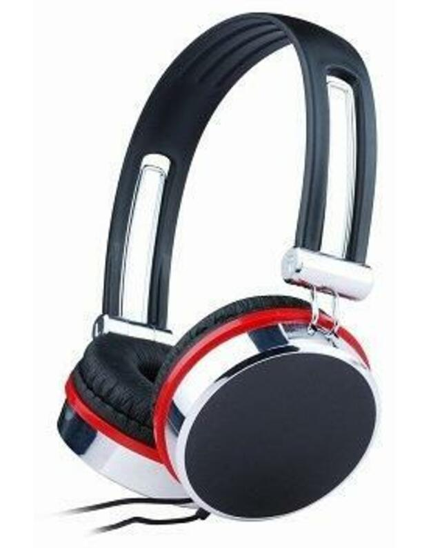 GEMBIRD MHP-903 Gembird stereo ausinės, juodas-sidabrinis-red
