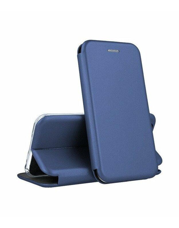 """Mėlynas atverčiamas dėklas Huawei P30 Lite telefonui """"Book Elegance"""""""