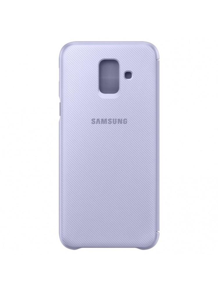 Galaxy A6 (2018) dėklas - piniginė (Violetinis)