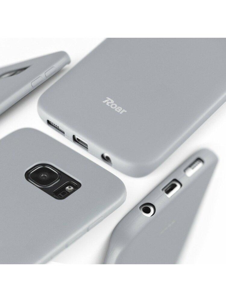 """""""Roar"""" spalvotas želė dėklas - skirtas """"iPhone 12/12 Pro"""" pilkas"""