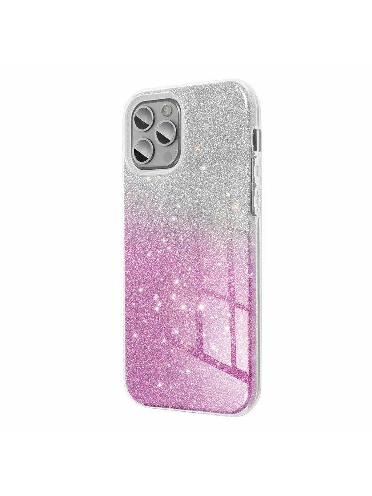 """""""Forcell"""" """"SHINING"""" dėklas, skirtas """"iPhone 11"""" (6.1 """") skaidrus / rožinis"""
