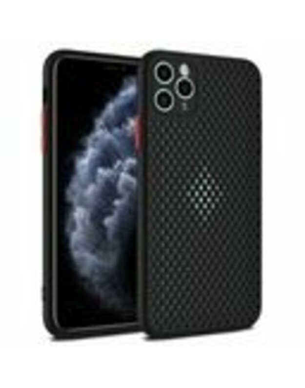 Breath dėklas telefonui iPhone 12 Mini, juoda