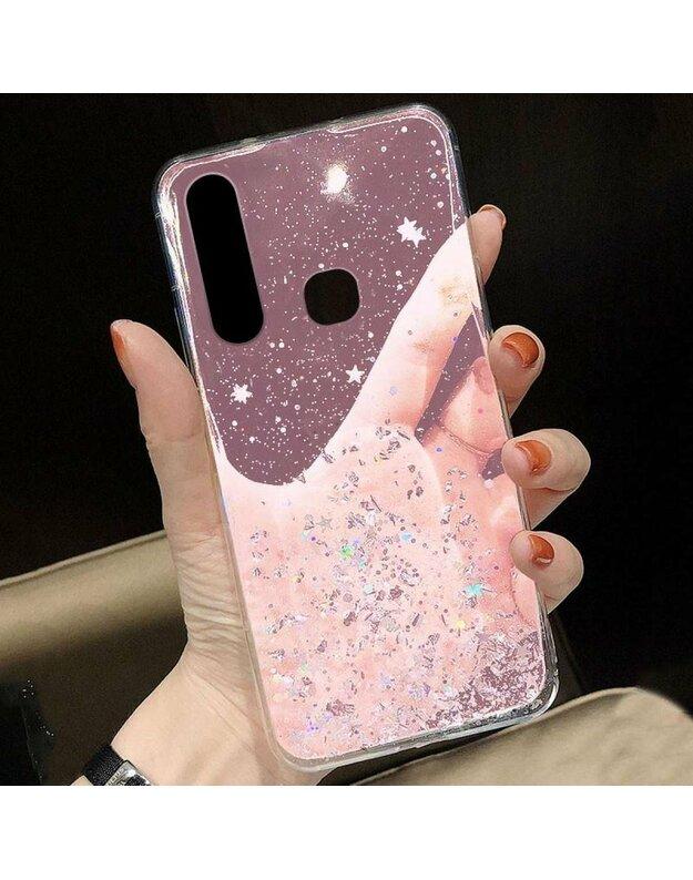 Byla IPHONE SE 2020/7/8 Sequins Glue Glitter Case rožinė