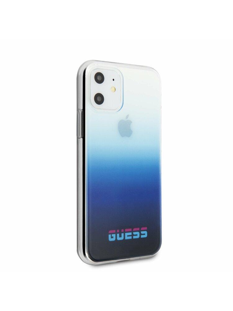 """""""Guess Apple iPhone 11 Blue"""" galinio dangtelio dėklas - GUHCN61DGCNA"""